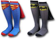 super hero socks? yes please!