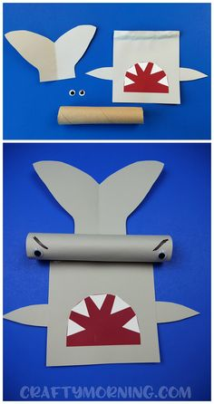 Here's a fun cardboard tube hammerhead shark craft for kids to make! Perfect for summer time or learning about sharks. You can use a paper towel roll too.