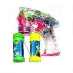 Oramics - Pistola transparente para hacer pompas de jabón (2 botes, con luces LED y sonido)