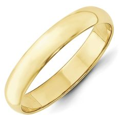 10K Yellow Gold 4.00MM LTW Half Round Wedding Band Ring (5). 10K Yellow Gold Solid, Finish: Polished. Sizing Adjustment Increment: 0.25. Half Round. Item Is Packed in a beautiful Gift Box. Classic Wedding Band 4.00MM.