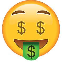 Got money on your mind? This emoji does, too, as well as on his eyes and his tongue! Emoji Images, Emoji Pictures, Money Emoji, Symbols Emoticons, Whatsapp Png, Emoji Drawings, Emoji Clipart, Love Smiley, Emoticon Faces