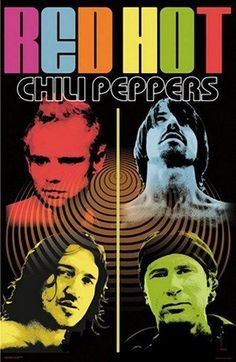 A colorful Pop Art poster of the Red Hot Chili Peppers! Anthony Kiedis, Flea, John Frusciante, and Chad Smith are some funky monks! Check out the rest of our Red Hot selection of Red Hot Chili Peppers posters! Need Poster Mounts. Pop Art Posters, Poster Prints, Music Posters, Wall Posters, Print Image, Rock Y Metal, Rock Band Posters, John Frusciante, Painting Art