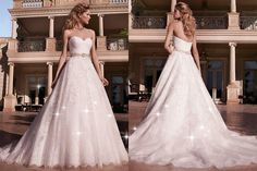 Front and Back of a Wedding Dress