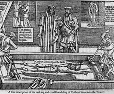 Racking, a common medieval torture tactic. This is speculated to have happened to Mark Smeaton in order to get him to confess (many say falsely) to having slept with Anne.