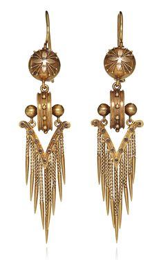 19th Century Etruscan Revival Fringe Earrings