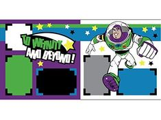 to Infinity and Beyond Disney Scrapbook Page Kit Scrapbook Layout Sketches, Scrapbook Templates, Scrapbooking Layouts, Disney Scrapbook Pages, Scrapbook Cards, Kids Scrapbook, Scrapbook Frames, Disney Magic Kingdom, Disney Toys