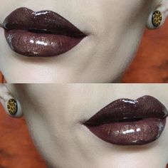 We love @frenchtouchofmakeup  hot chocolate lips ☕️ She's used CATSUIT with clear sparkling gloss over top! #meltcosmetics #meltcatsuit