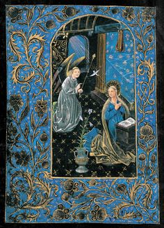 Virgin Mary: Annunciation | Book of hours (Black Hours) | Belgium, Bruges | ca. 1480 | The Morgan Library & Museum