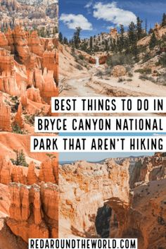 Bryce Canyon National Park in Utah is underrated. These are some of the best things to do in Bryce Canyon that aren't hiking on your next Utah road trip. Capitol Reef National Park, Us National Parks, Nationalparks Usa, Bryce Canyon Utah, Utah Vacation, Family Vacations, Utah Hikes, Us Road Trip, Roadtrip
