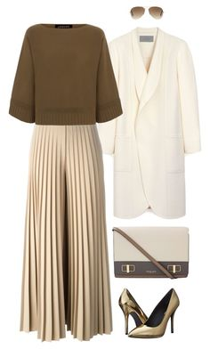 """""""Kick off your Friday shoes"""" by mttakes ❤ liked on Polyvore featuring Mulberry, Michael Kors, Givenchy, Jaeger, Pierre Balmain and Ray-Ban"""