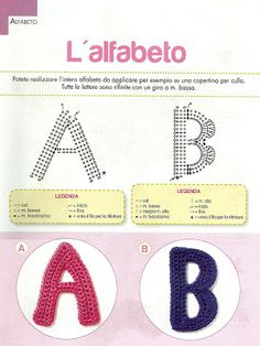 ALFABETO UNCINETTO - Universal Crochet Charts for Alphabet Letters A - Z
