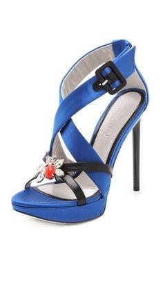 (Limited Supply) Click Image Above: Jason Wu Marisa Platform Sandals Christian Louboutin, Louboutin Shoes, Shoes Heels, High Heels, Blue Sandals, Blue Shoes, Jimmy Choo, Prada, Gucci
