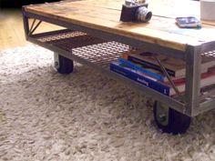 Industrial Pallet Coffee Table - Vintage Industrial Furniture