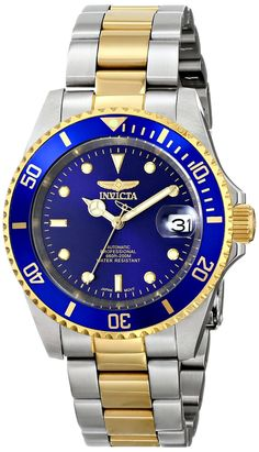 Invicta Men's 8928OB Pro Diver 23k Gold-Plated and Stainless Steel Two-Tone Automatic Watch.