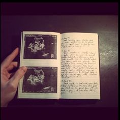 Do it yourself pregnancy and baby journal pregnancy journal for my birthday my father gave me a journal he has been making me for solutioingenieria Choice Image