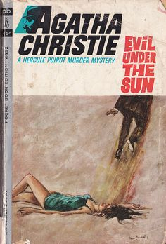 Evil Under The Sun by Agatha Christie. Golden Age British detective, crime and mystery fiction, US paperback edition book cover.