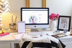 Beautiful office desk area. Create your own perfect thinking space.