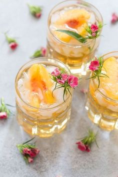 Sweet Georgia Peach Smash! If this drink tastes as good as it looks then it must be delicious! This is truly a pretty cocktail!