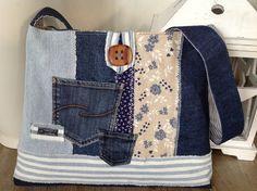 """Schultertaschen - Jeanstasche """" BLUE """" 2 - ein Designerstück von FADENREICH-elt bei DaWanda"""