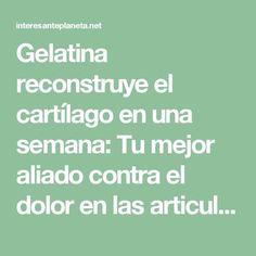 Gelatina reconstruye el cartílago en una semana: Tu mejor aliado contra el dolor en las articulaciones. - Interesante Planeta