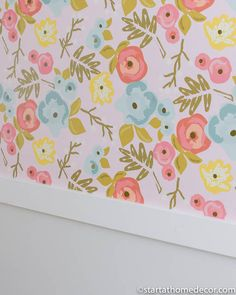 My Daughters' Rooms Reveal - Start at Home Decor Cheap Wallpaper, How To Install Wallpaper, Large Christmas Ornaments, Christmas Home, Wall Decor Design, Daughters Room, Girl Room, Decorating Tips, Vibrant Colors
