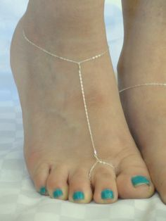 Sterling silver barefoot sandals Chain barefoot by GemmaJolee