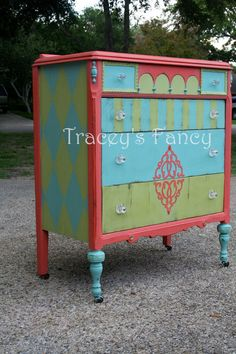 JesterCustom Painted Dresser/Chest of Drawers MADE by TraceysFancy
