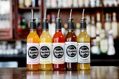The full line of favor simple syrups