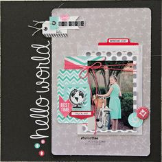 ** Chic Tags- delightful paper tag **: Day 2 with ClearSnap! Baby Scrapbook, Travel Scrapbook, Scrapbook Paper Crafts, Photo Layouts, Scrapbook Page Layouts, Scrapbook Pages, Look At My, Chalk Ink, Custom Stamps