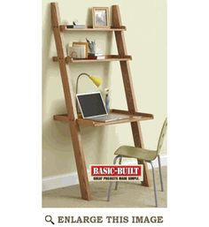 Knockdown Wall Desk - great for a small college bedroom