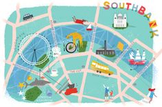 Magie Li - Map of Southbank for TimeOut