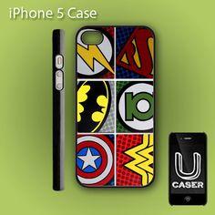 Pop Comic Art Super Hero Logo on Hard Plastic Case - iPhone 4 / 4S , iPhone 5, Samsung Galaxy S2 / S3. $14.99, via Etsy.