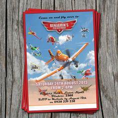 Disney's Planes Invitation - 5x7 - Planes, Disney Movie - Modern, Contemporary Kids birthday Invitation - Printable, Digital