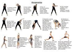 Alongamentos: exerc�cios para aumentar a flexibilidade muscular que possibilita ampliar e agilizar qualquer movimento corporal                                                                                                                                                                                 Mais