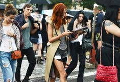 Taylor Tomasi Hill, by Tommy Ton. Street Style from New York Fashion Week at the Spring Summer 2013 shows