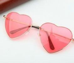 Heart-shaped Rose Valentine Gift Reflective Lenses Girl Sunglasses – Accessories - To Have a Nice Day Heart Shaped Sunglasses, Girl With Sunglasses, Pink Sunglasses, Sunglasses Women, Sunnies, Reflective Sunglasses, Sunglasses Accessories, Heart Glasses, Cute Glasses