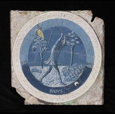 luca della Robbia, the labors of the months, c. 1450-56, victoria and albert (made for the studiolo of piero de' medici)