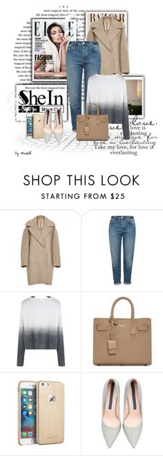 """""""Shein contest entry"""" by sabine-rose ❤ liked on Polyvore featuring Murphy, N°21, Topshop, Yves Saint Laurent, women's clothing, women, female, woman, misses and juniors"""
