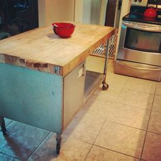 Industrial Butcher Block Island by Nerd Nest, via Flickr
