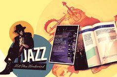 """Flyer, Zeitschrift und Poster """"JAZZ"""" Designed by ESSPEE Design Studio - Web und Grafikagentur www.esspee.de"""