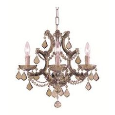 @Overstock.com - Maria Theresa 4-light Antique Brass Crystal Mini Chandelier - This Maria Theresa antique brass mini chandelier is highlighted with a rich finish.  Featuring shades made of Italian golden teak reserve crystal, this luxurious indoor four-light fixture will add class, elegance, and sophistication to the room.  http://www.overstock.com/Home-Garden/Maria-Theresa-4-light-Antique-Brass-Crystal-Mini-Chandelier/5243170/product.html?CID=214117 $265.99