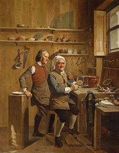 Johann Zoffany (1733/4-1810) John Cuff and his assistant, 1772 Purchased by or painted for George III Royal Collection (http://www.royalcollection.org.uk/eGallery/object.asp?maker=12720&object=404434&row=13)