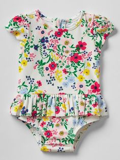 296696d010f27 Floral peplum swim one-piece Product Image Baby Swimming, Girls Swimming,  Mommy And