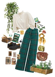 a cool look for a botanist! Discover outfit ideas for college made with the shoplook outfit maker. How to wear ideas for som nice leafs 4 and ! Retro Outfits, Vintage Outfits, Cool Outfits, Fashion Outfits, Hippie Outfits, Aesthetic Fashion, Aesthetic Clothes, Retro Fashion, Vintage Fashion