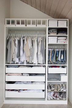 These Ikea closets are so stylish.