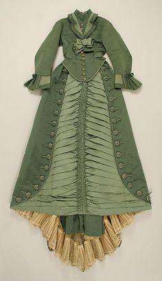 Dress (image 1) | Depret | French | 1873-1875 | silk | Metropolitan Museum of Art | Accession Number: C.I.62.35.8a, b