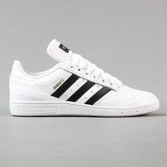 Adidas #skateboarding #dennis busenitz pro skate shoes leather #white black gold, View more on the LINK: http://www.zeppy.io/product/gb/2/301949995218/