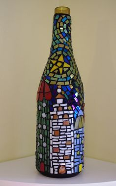 Mosaic wine bottle, via Flickr.
