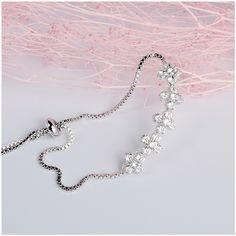 Sweet Wedding Party Fashion Girl's Insert CZ Diamond Bracelets Sliver Rose Gold Plated Flower Cubic Zirconia Bracelet For Women