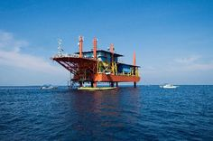 Seaventures Dive Resort Off Mabul Island, Malaysia Once an oil rig, now a resort